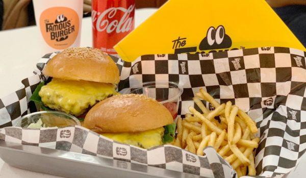 The Famous Burger ザ フェイマスバーガー:  お肉がジューシー!!ホンデの人気ハンバーガー店